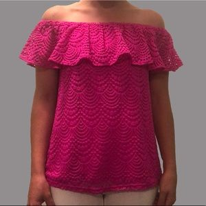 Lilly Pulitzer La Fortuna Lace Top